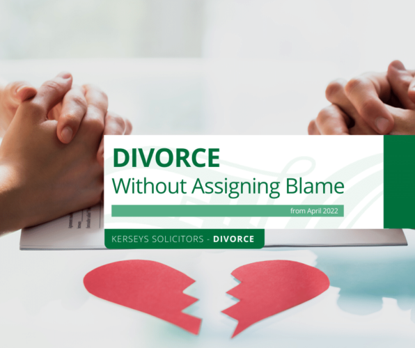 Divorce Without Assigning Blame from April 2022